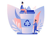 Urban ecology set. Zero Waste. Flat cartoon style. Vector illustration
