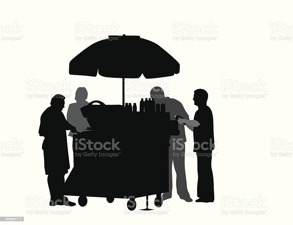 Urban Fare Vector Silhouette vector art illustration