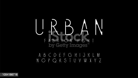 urban fashion modern alphabet. designs for logo, Poster, Invitation, etc. Typography font uppercase. vector illustrator