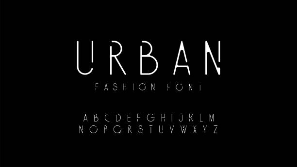 urban fashion modern alphabet. designs for logo, poster, invitation, etc. typography font uppercase. vector illustrator - alphabet designs stock illustrations