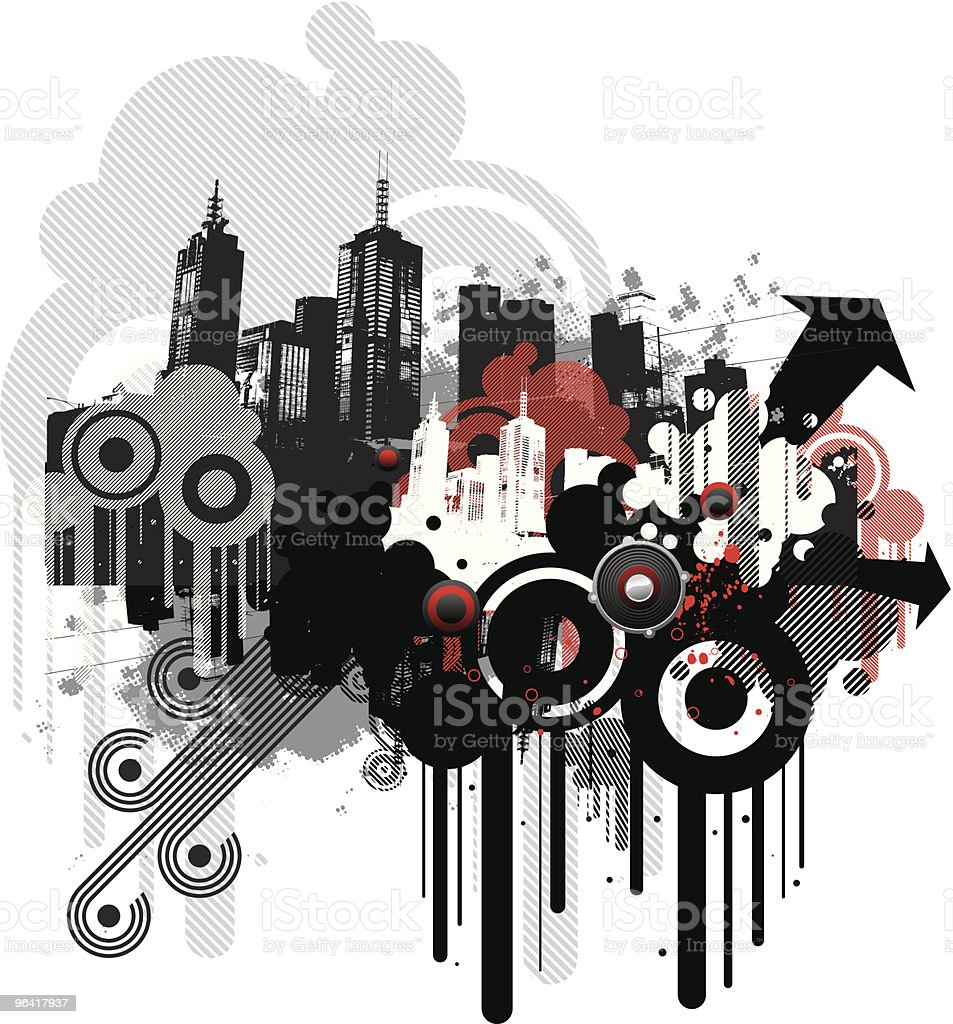 urban funk vector art illustration