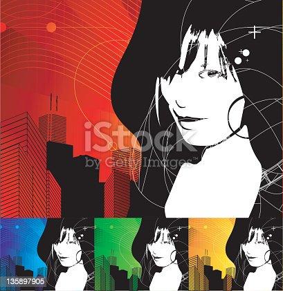 istock urban girl (vector) 135897905