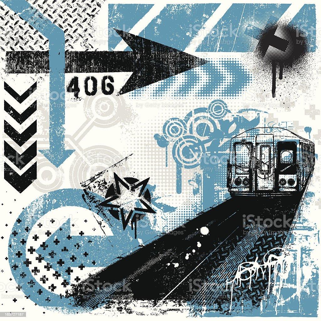 Elementos de Grunge urbano - Vetor de Abstrato royalty-free