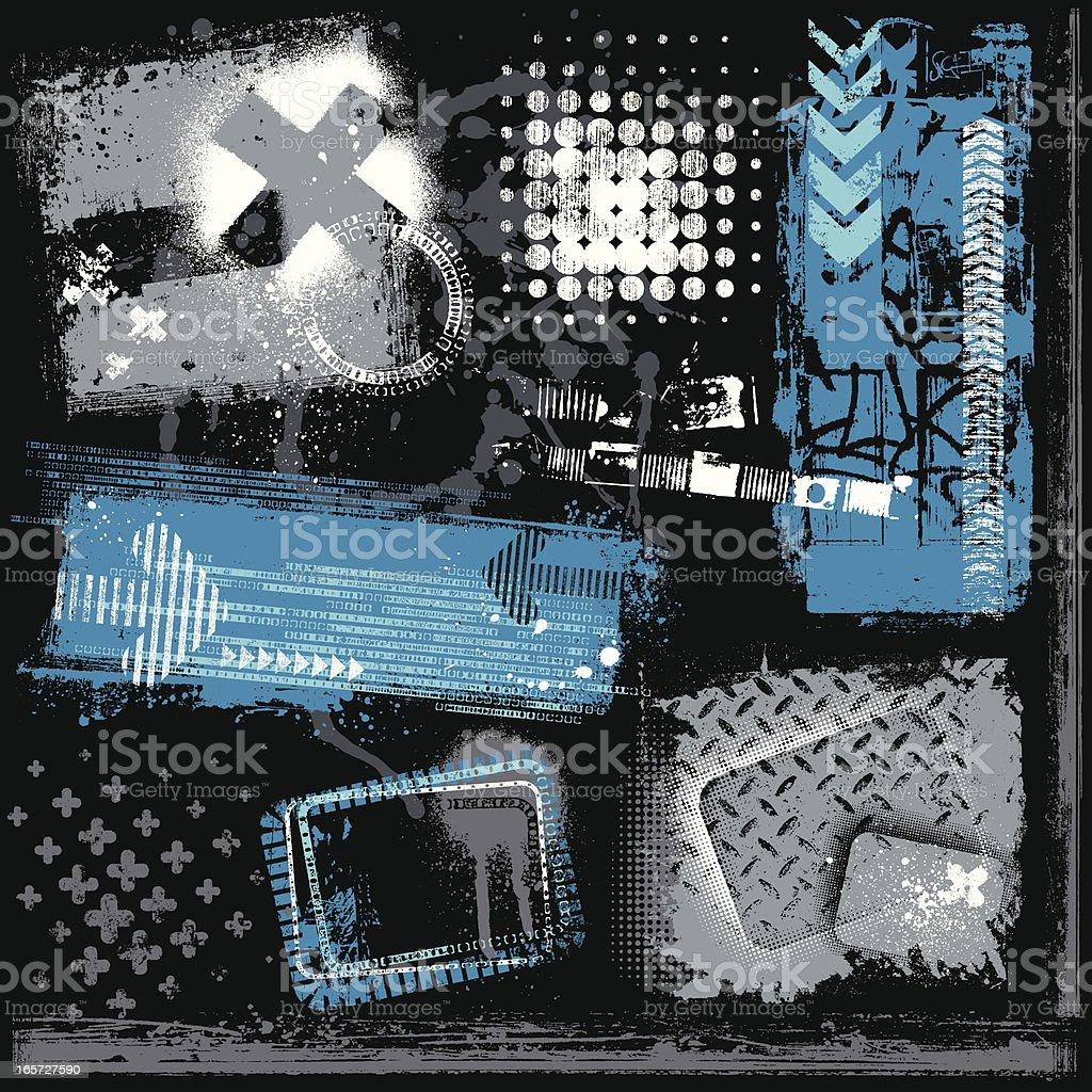 Elementos de Grunge urbano - ilustración de arte vectorial