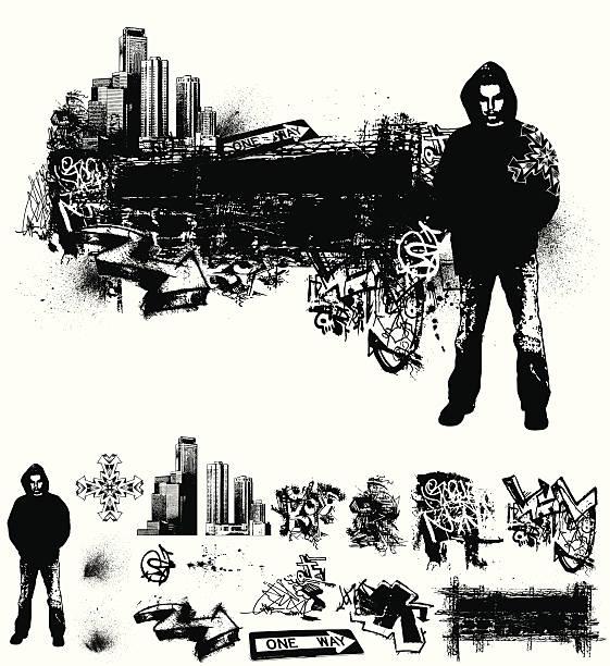 Urban Grunge vector art illustration