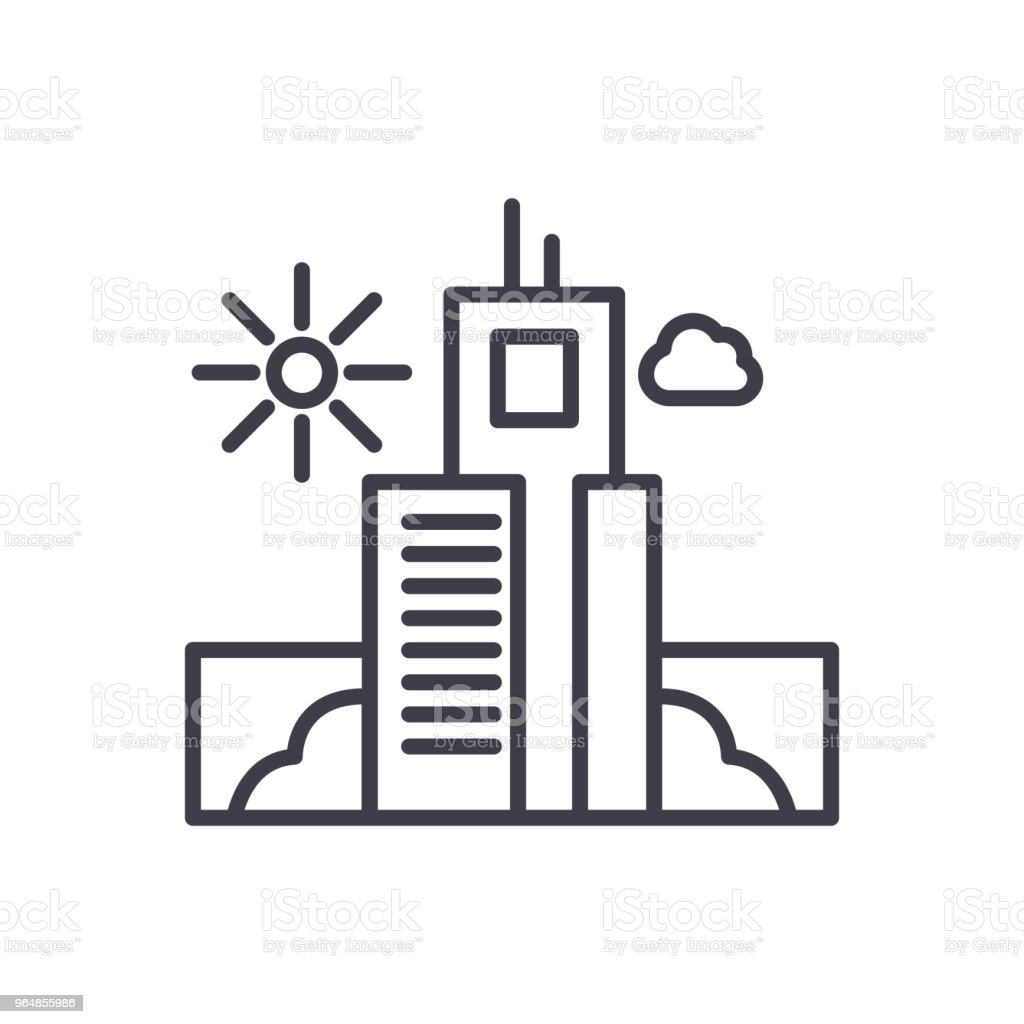 Urban infrastructure black icon concept. Urban infrastructure flat  vector symbol, sign, illustration. royalty-free urban infrastructure black icon concept urban infrastructure flat vector symbol sign illustration stock vector art & more images of architecture