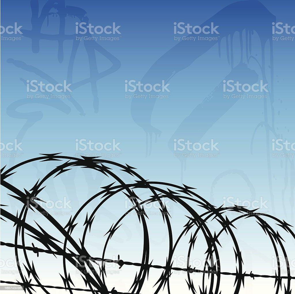 Urban Jail Background royalty-free stock vector art