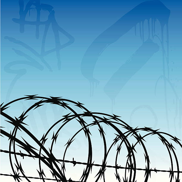 Royalty Free Razor Wire Clip Art, Vector Images & Illustrations - iStock