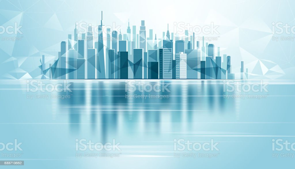 Urban Landscape City vector art illustration