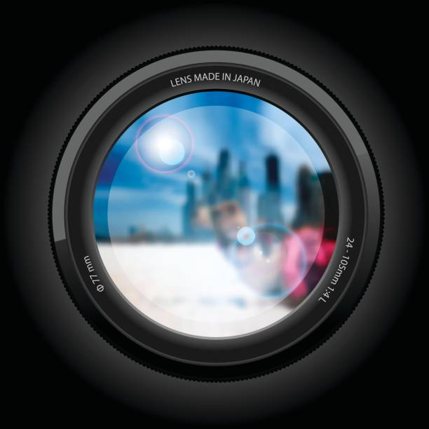 urban landscape. View of the lens. stock photo