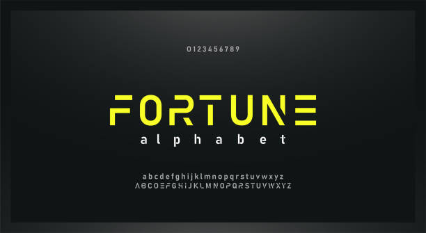 urban modern alphabet font and number. Typography future creative design concept fonts and numbers. vector illustraion urban modern alphabet font and number. Typography future creative design concept fonts and numbers. vector illustraion futuristic stock illustrations