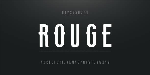 ilustrações de stock, clip art, desenhos animados e ícones de urban modern alphabet font and number. typography simple condensed high, tall multi purpose typeface style numbers fonts. vector illustration - grosso