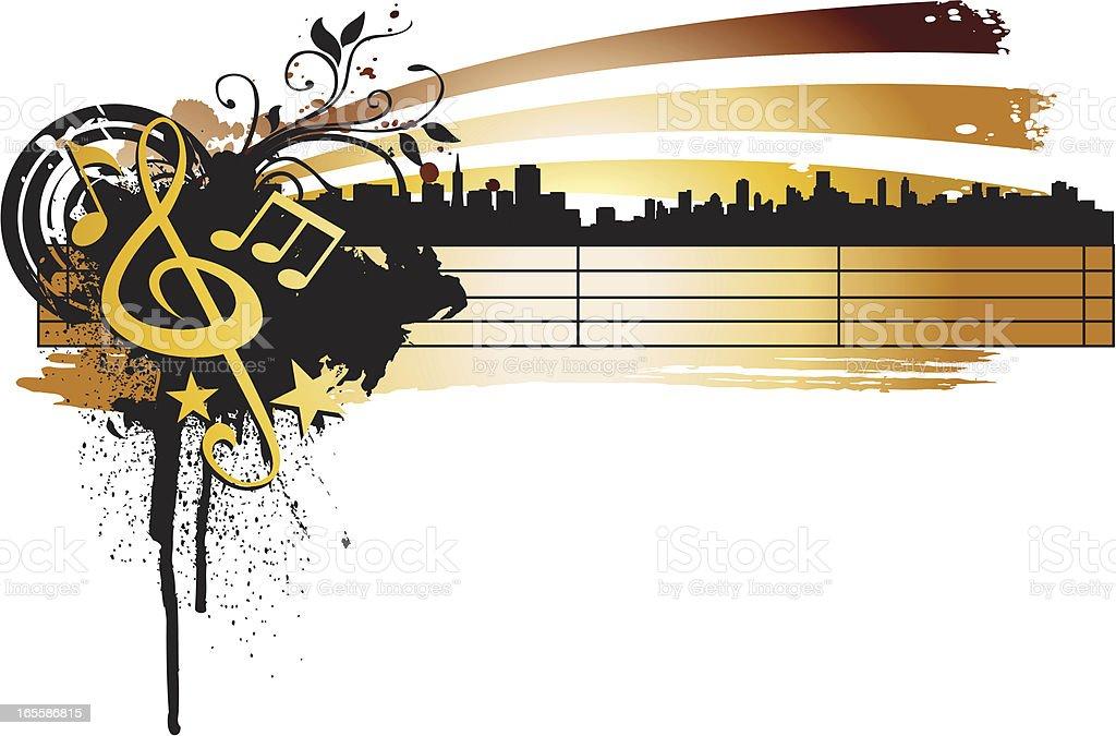 urban music note royalty-free stock vector art