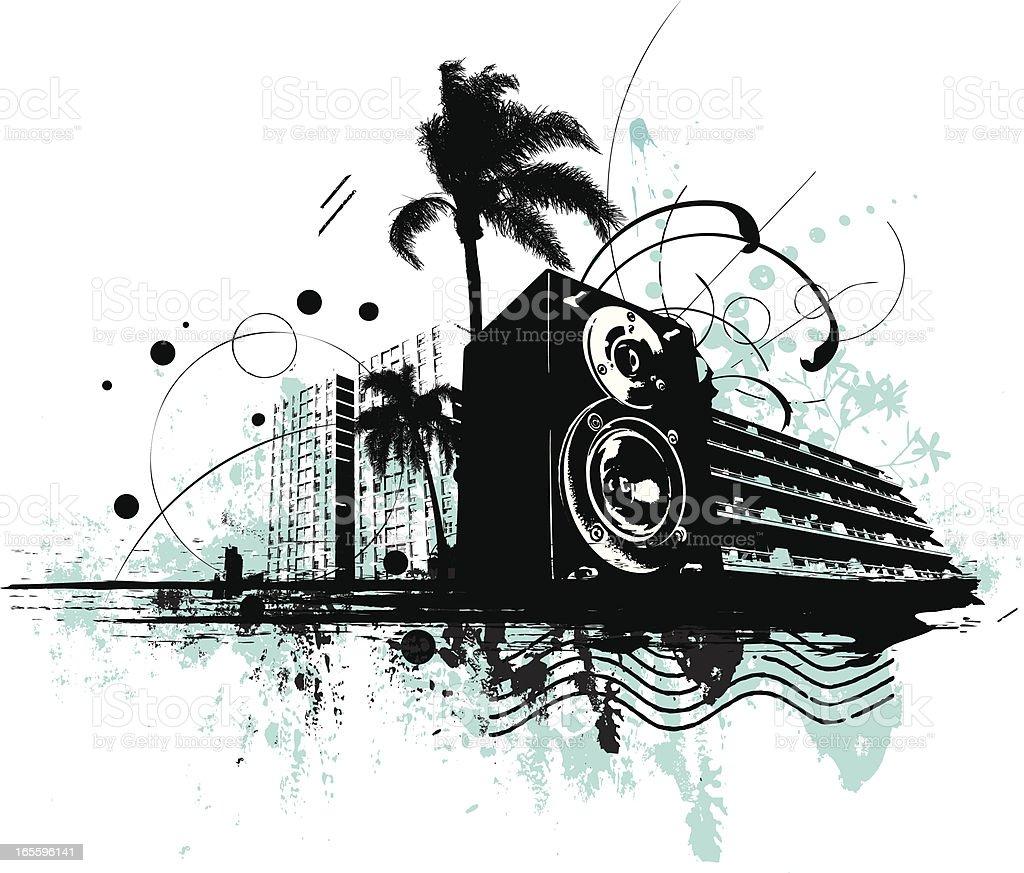 Música urbana ilustración de música urbana y más banco de imágenes de altavoz libre de derechos