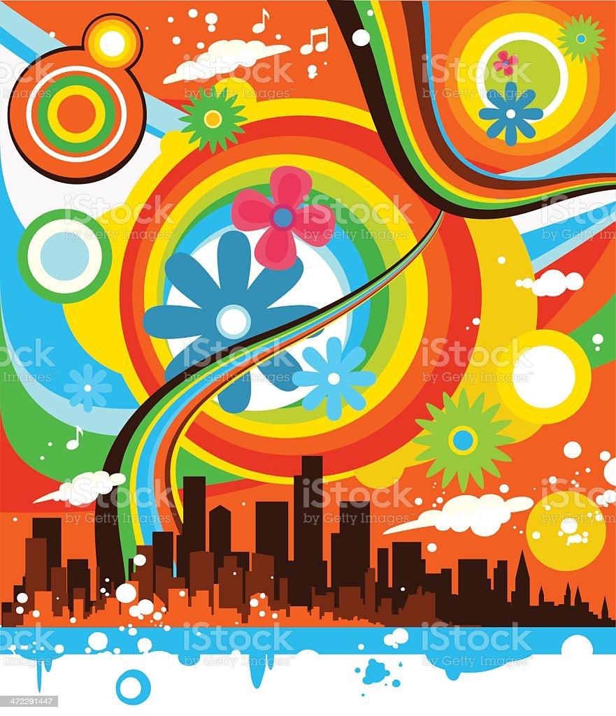 Urban nature energy royalty-free stock vector art