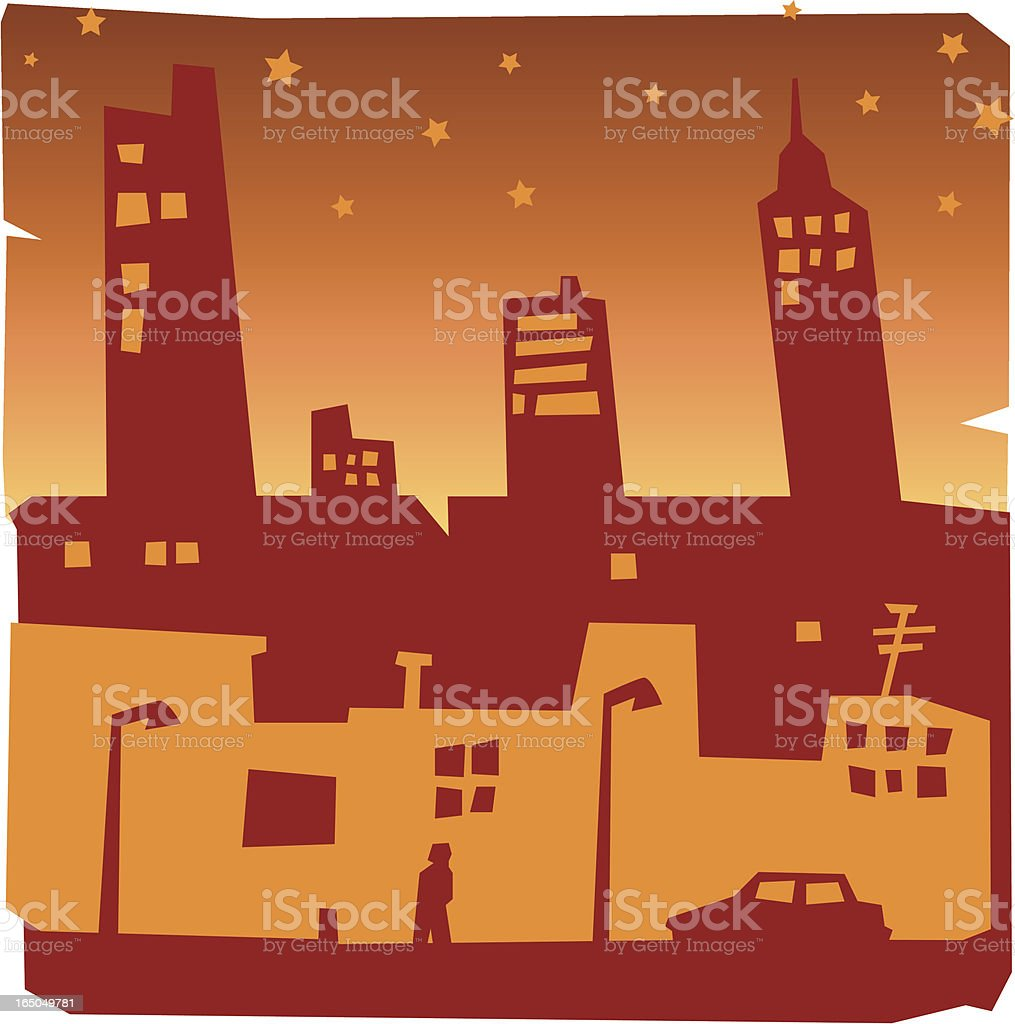 urban night royalty-free stock vector art