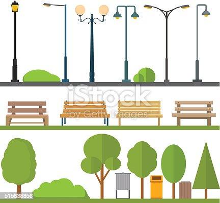Urban outdoor decor elements