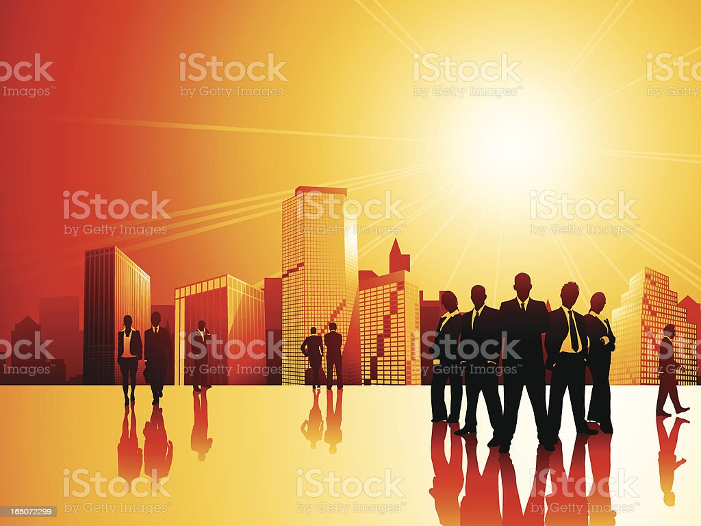 Urban Professionals II (11 separate people!) royalty-free stock vector art