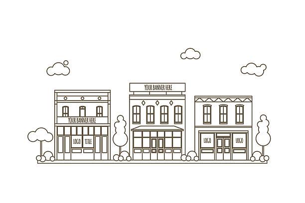 urban scene concept - 都市 モノクロ点のイラスト素材/クリップアート素材/マンガ素材/アイコン素材
