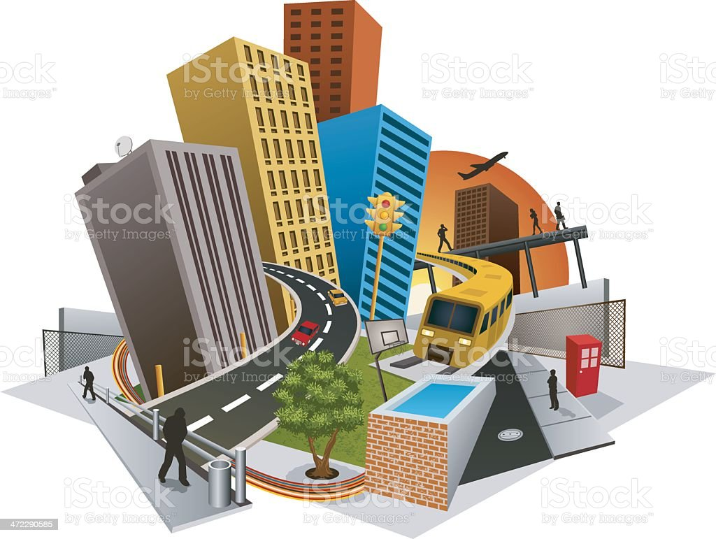 Urban Scene royalty-free stock vector art