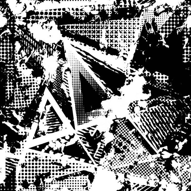 urban seamless grunge texture background. black white spray paint splash. - 都市 モノクロ点のイラスト素材/クリップアート素材/マンガ素材/アイコン素材