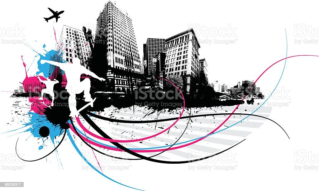 Urban Skaters royalty-free urban skaters stock vector art & more images of black color