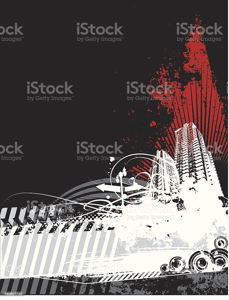urban skyline royalty-free stock vector art