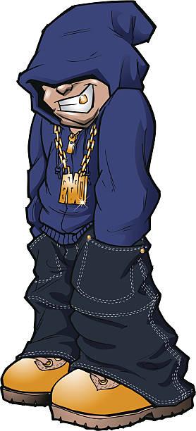 Urban Street Kid vector art illustration