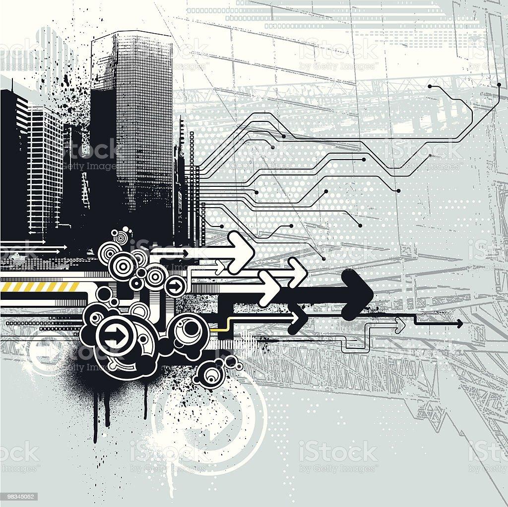 Tech urbano tech urbano - immagini vettoriali stock e altre immagini di architettura royalty-free