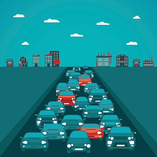 urban traffic vector concept in flat style - traffic 幅插畫檔、美工圖案、卡通及圖標