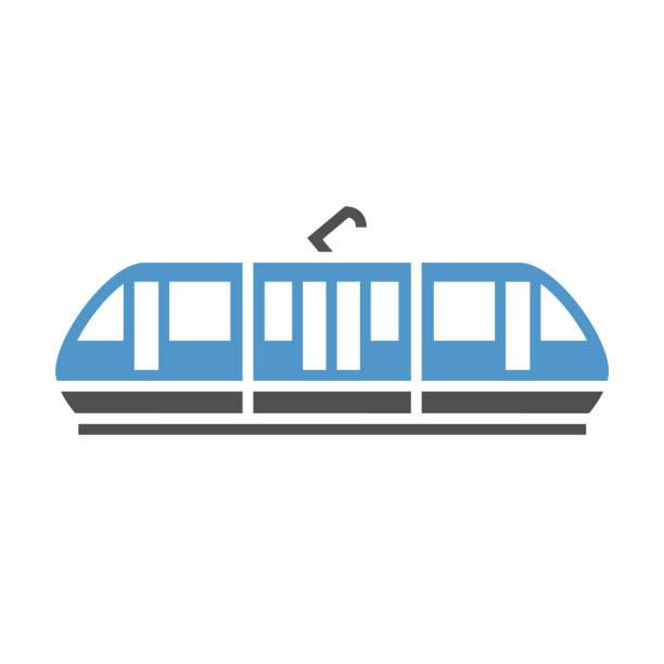 illustrazioni stock, clip art, cartoni animati e icone di tendenza di urban transport icon - linea tranviaria