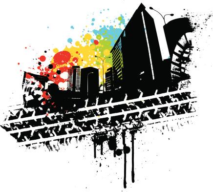 Urban Tread-vektorgrafik och fler bilder på Arkitektur