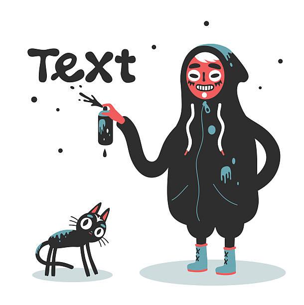 urban - graffiti schriftarten stock-grafiken, -clipart, -cartoons und -symbole