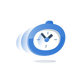 Urgent delivery period, fast service, time running, stopwatch in motion, deadline count down, quick survey, enrollment time limit