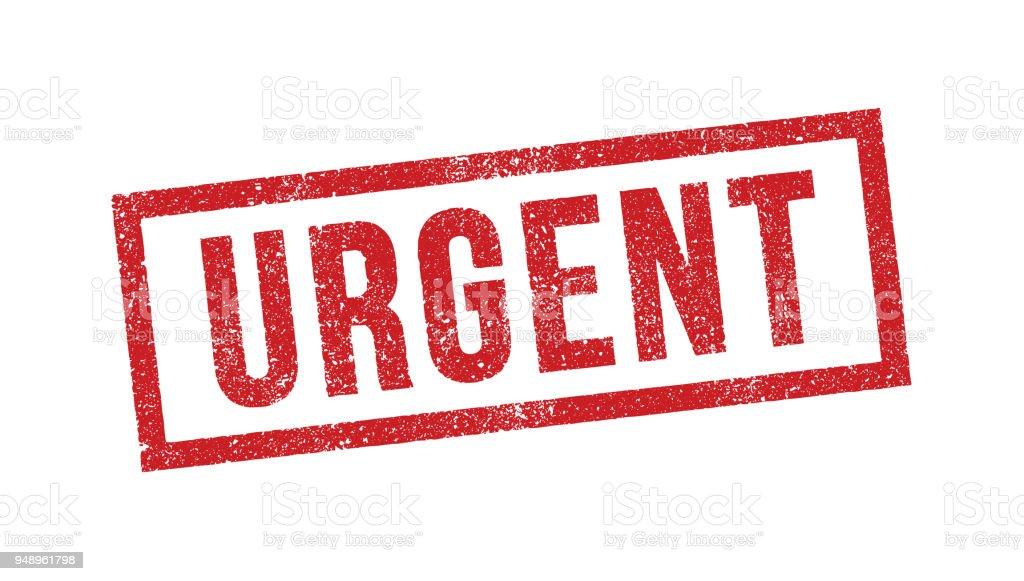 Urgent ink stamp vector art illustration