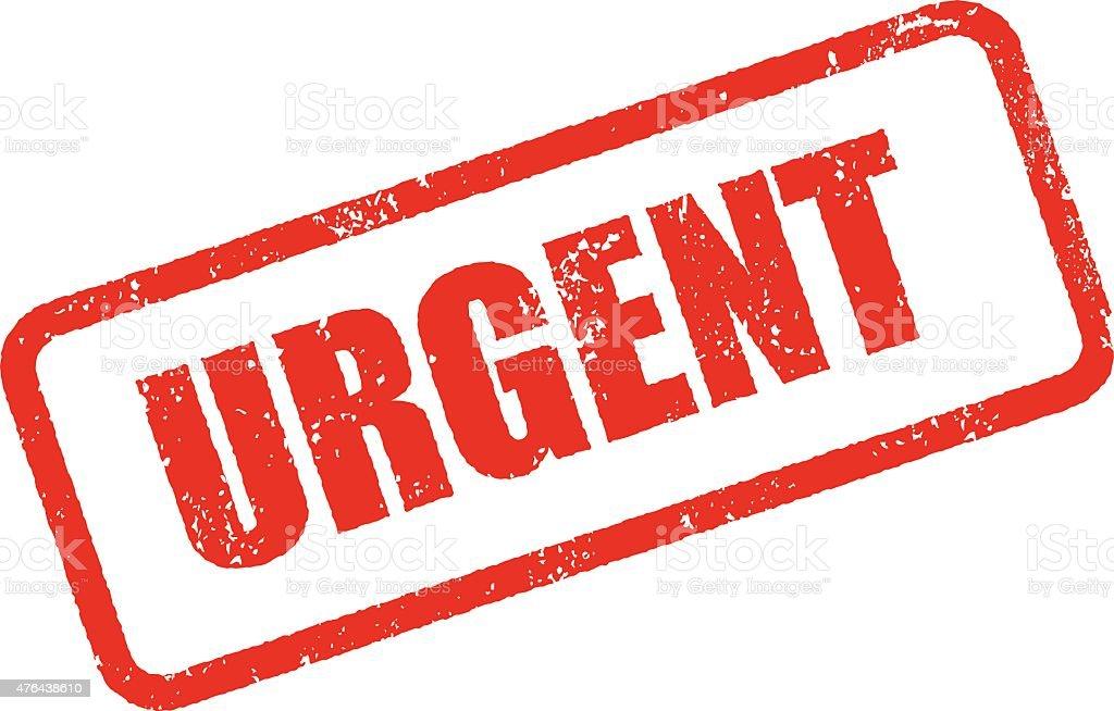 Urgent Rubber Stamp Ink Imprint Icon (Transparent Background) vector art illustration