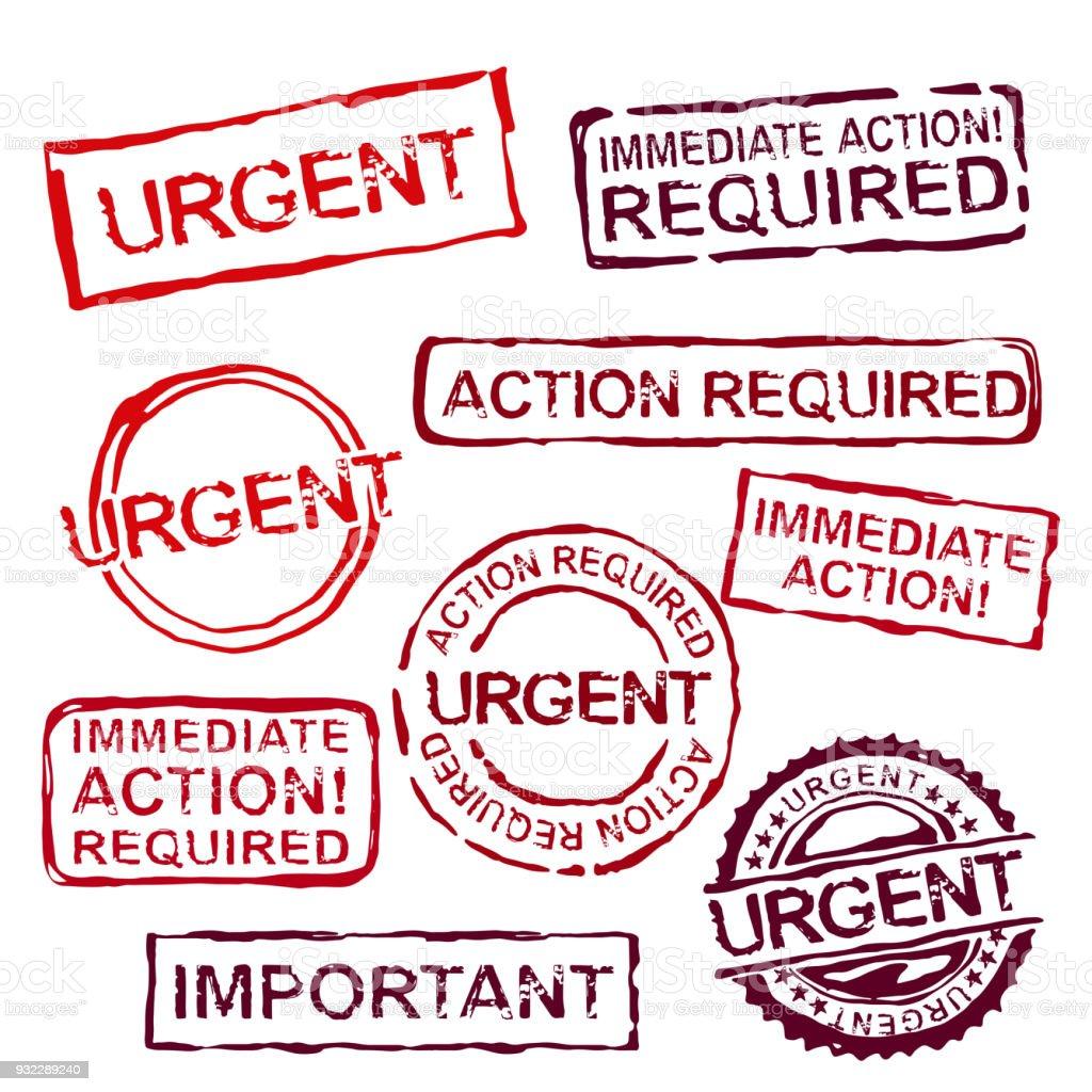 Urgent Stamps Set