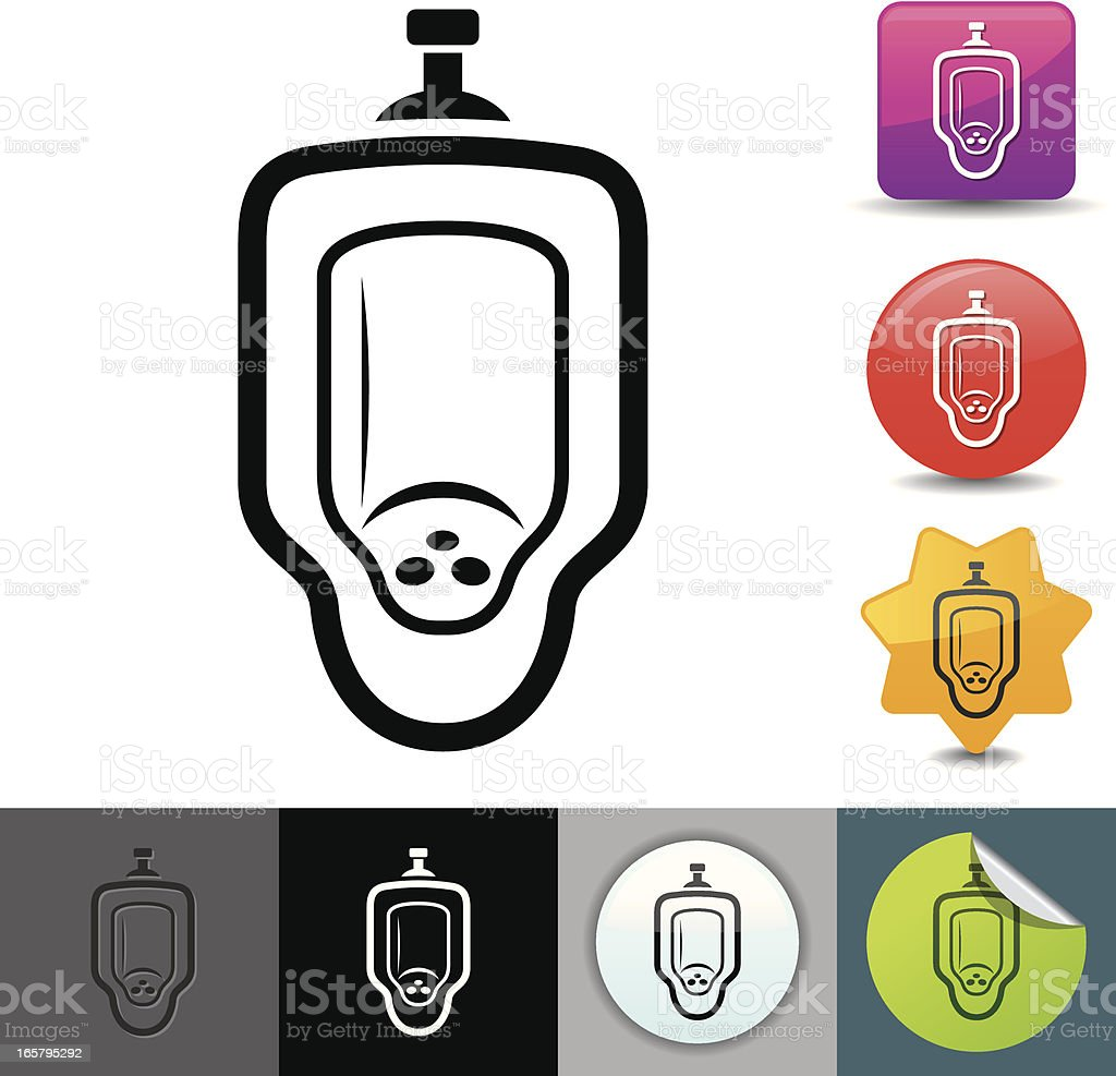 Royalty Free Public Restroom Mirror Clip Art Vector: Urinal Icon Solicosi Series Stock Vector Art & More Images