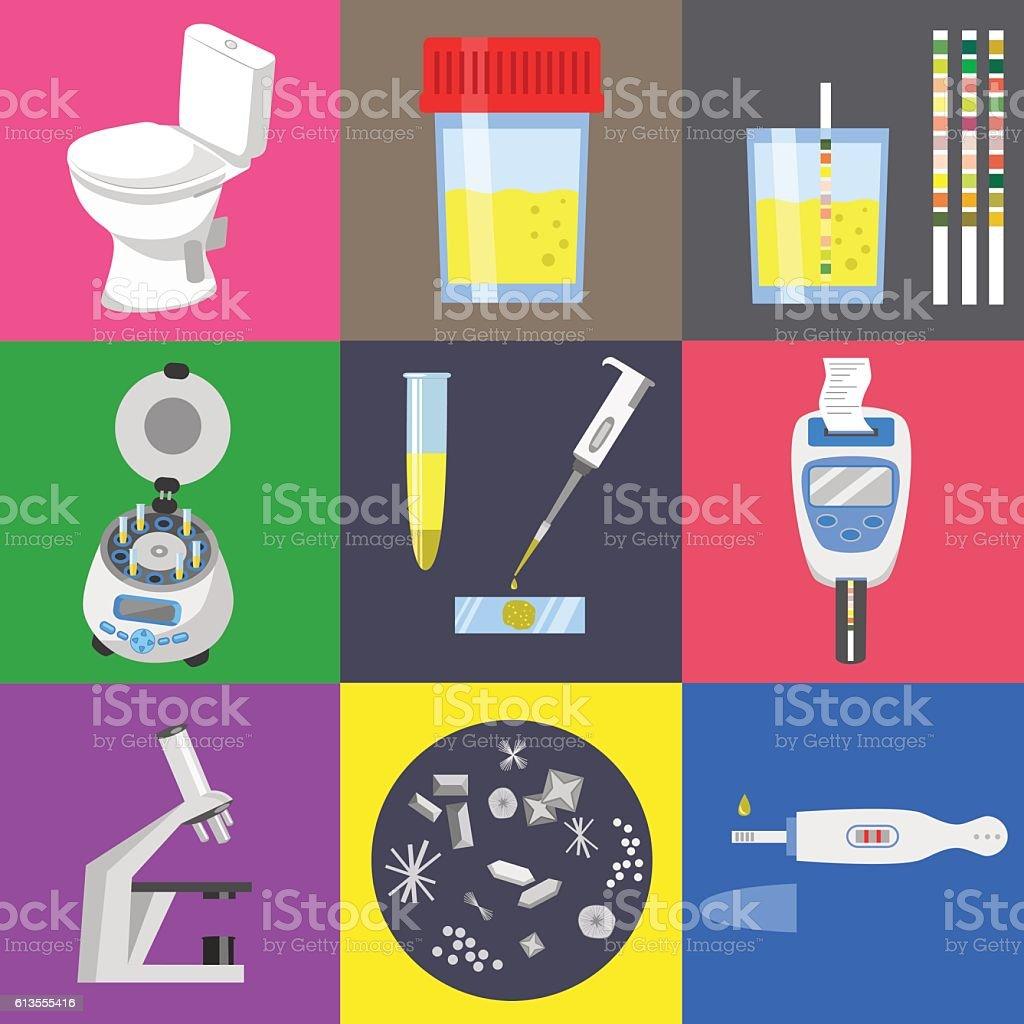 Urine test test vector art illustration