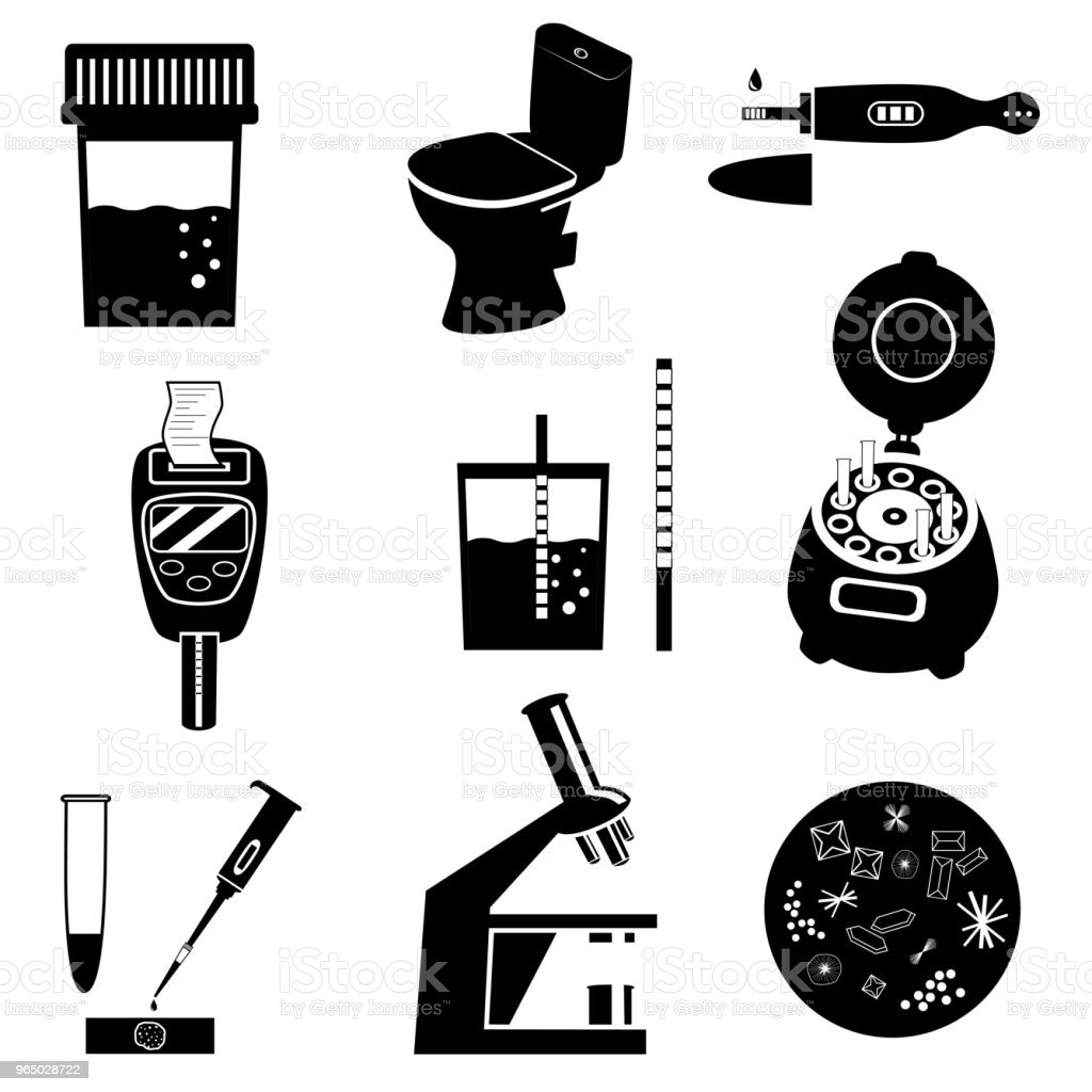 Urine test vector icons royalty-free urine test vector icons stock vector art & more images of analyzing