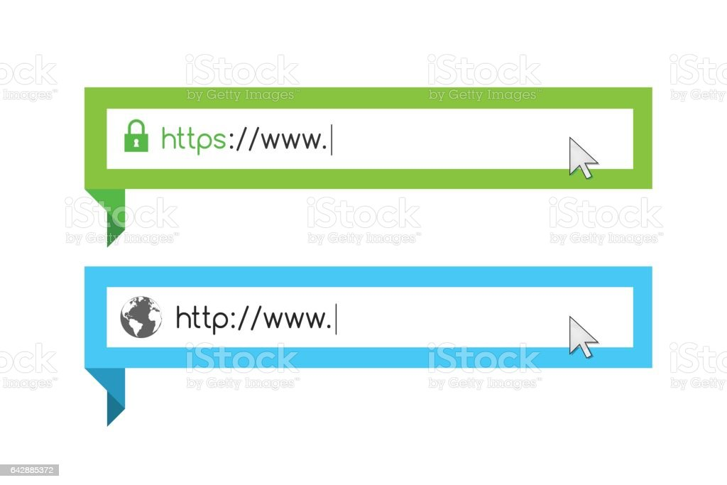 Url and address bar vector art illustration