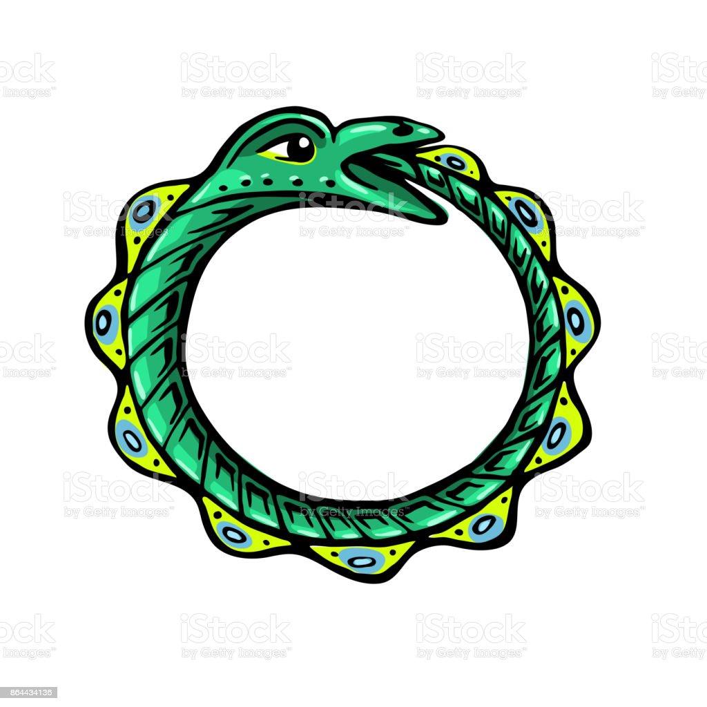 Uroboros The Green Snake Eats Its Own Tail Stock Vector Art More
