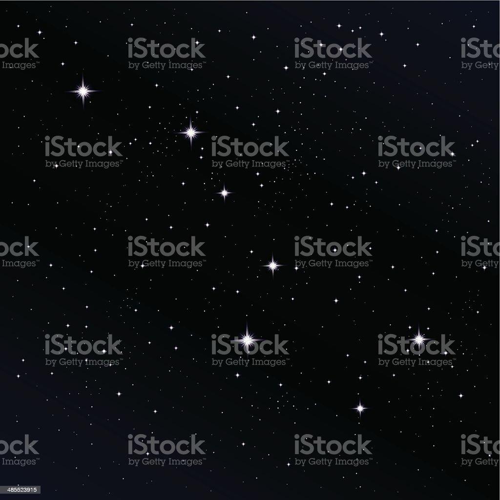 Ursa Major Constellation vector art illustration