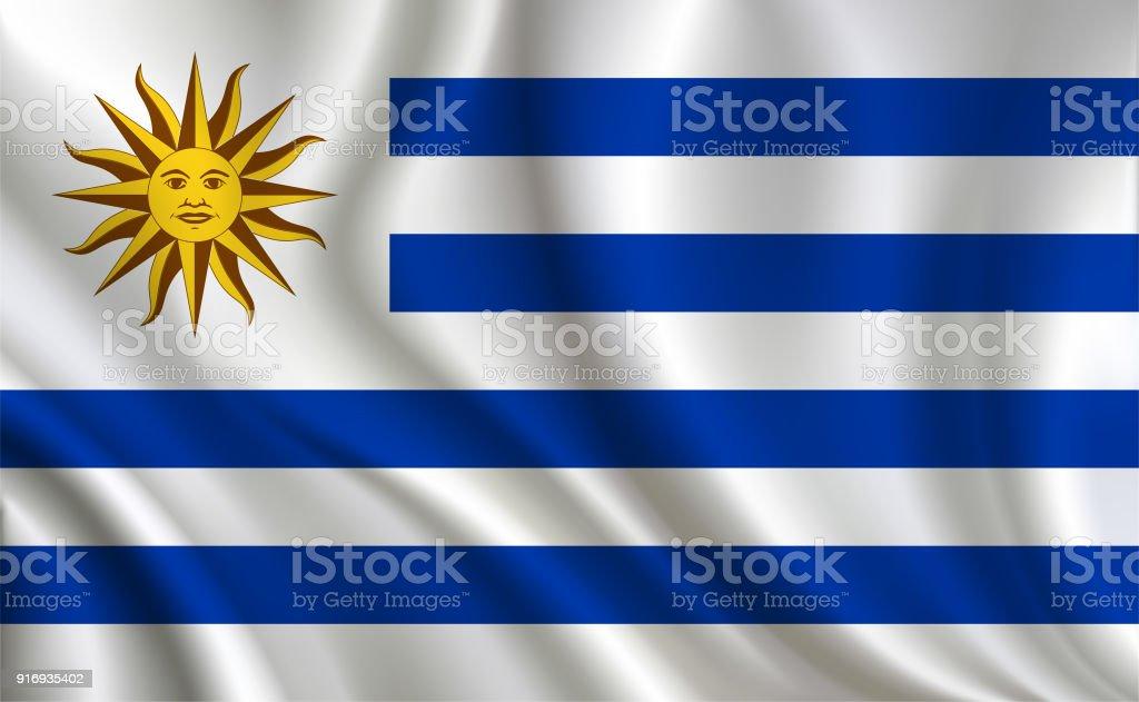 Fondo de bandera de Uruguay - ilustración de arte vectorial