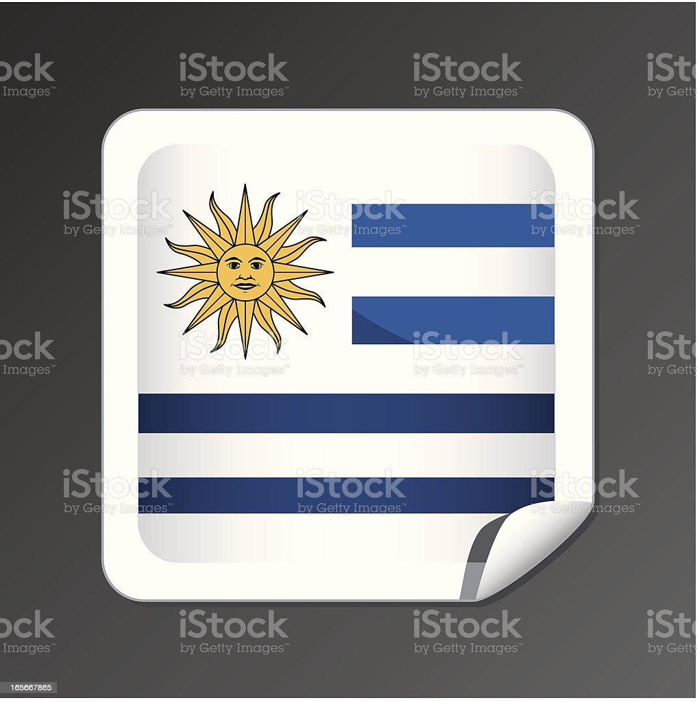 Uruguay flag button royalty-free stock vector art