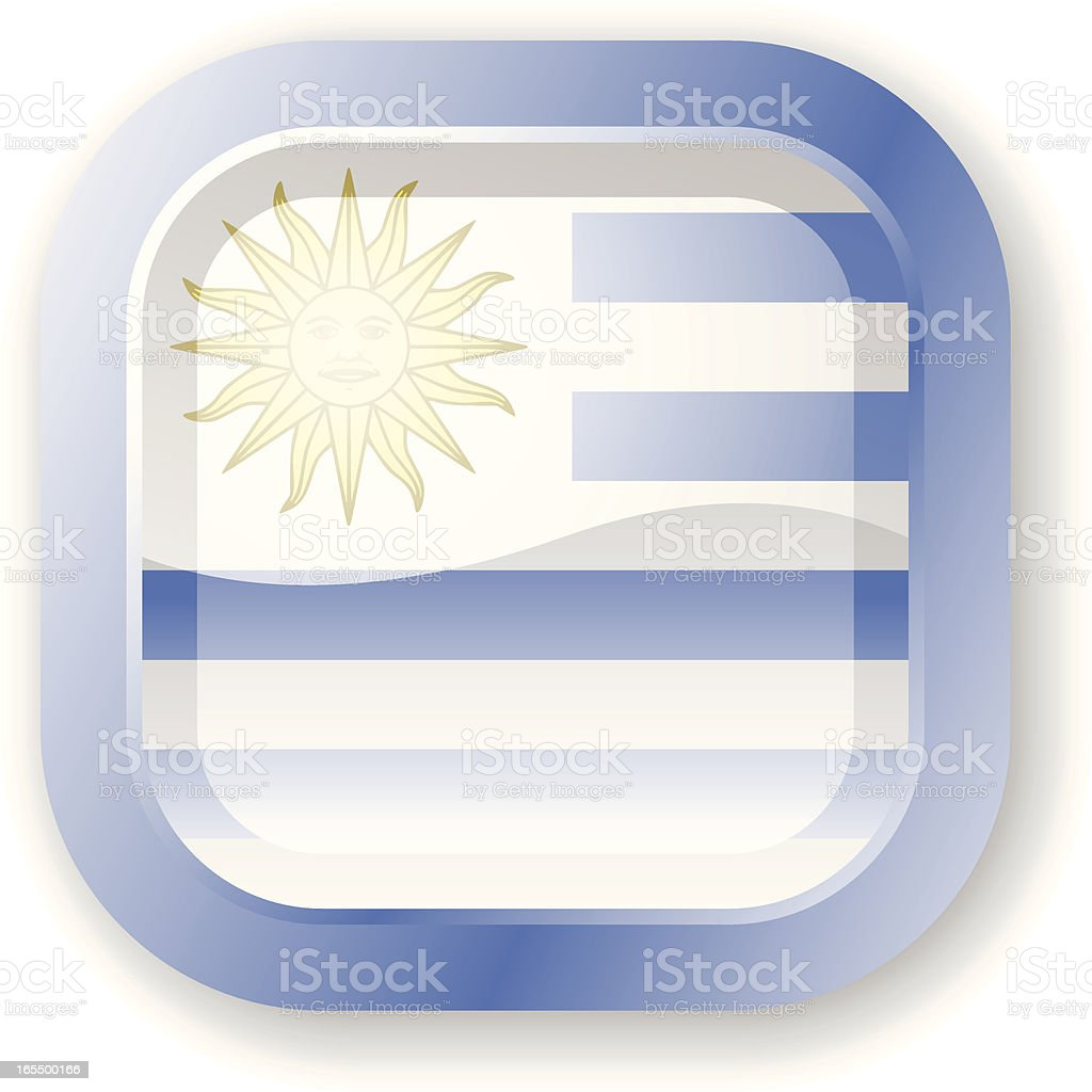 Uruguay Flag Icon royalty-free stock vector art