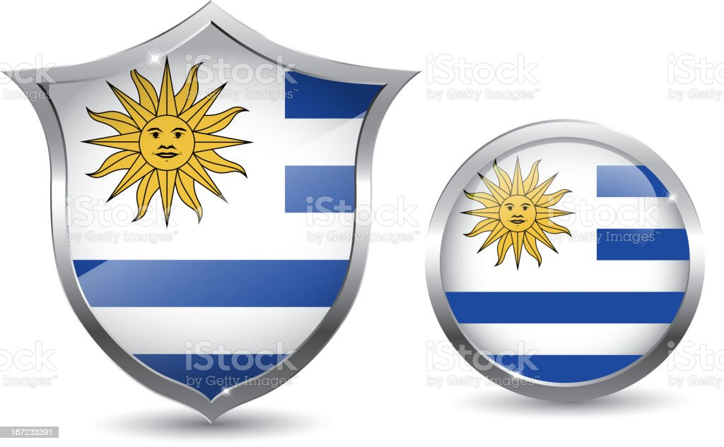 Uruguay flag royalty-free stock vector art