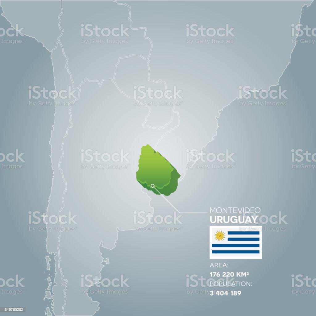 Mapa de información de Uruguay. - ilustración de arte vectorial