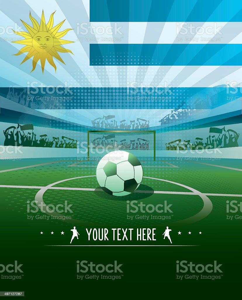Fondo de fútbol de Uruguay - ilustración de arte vectorial