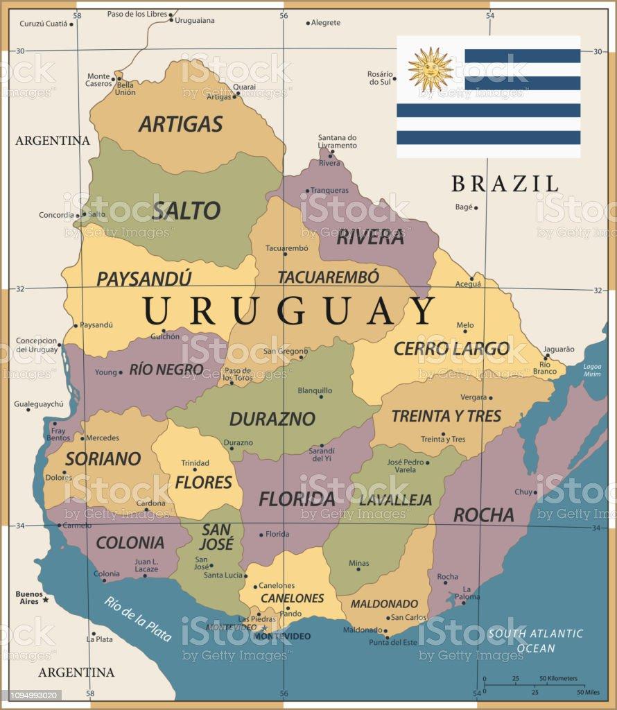 20 - Uruguay - Vintage Color Dark